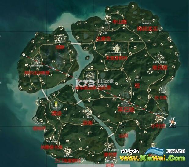绝地求生4x4地图资源分布一览